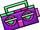 Purple Boom Box (ID 15142)