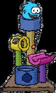 Blue Puffle Scratch Tower
