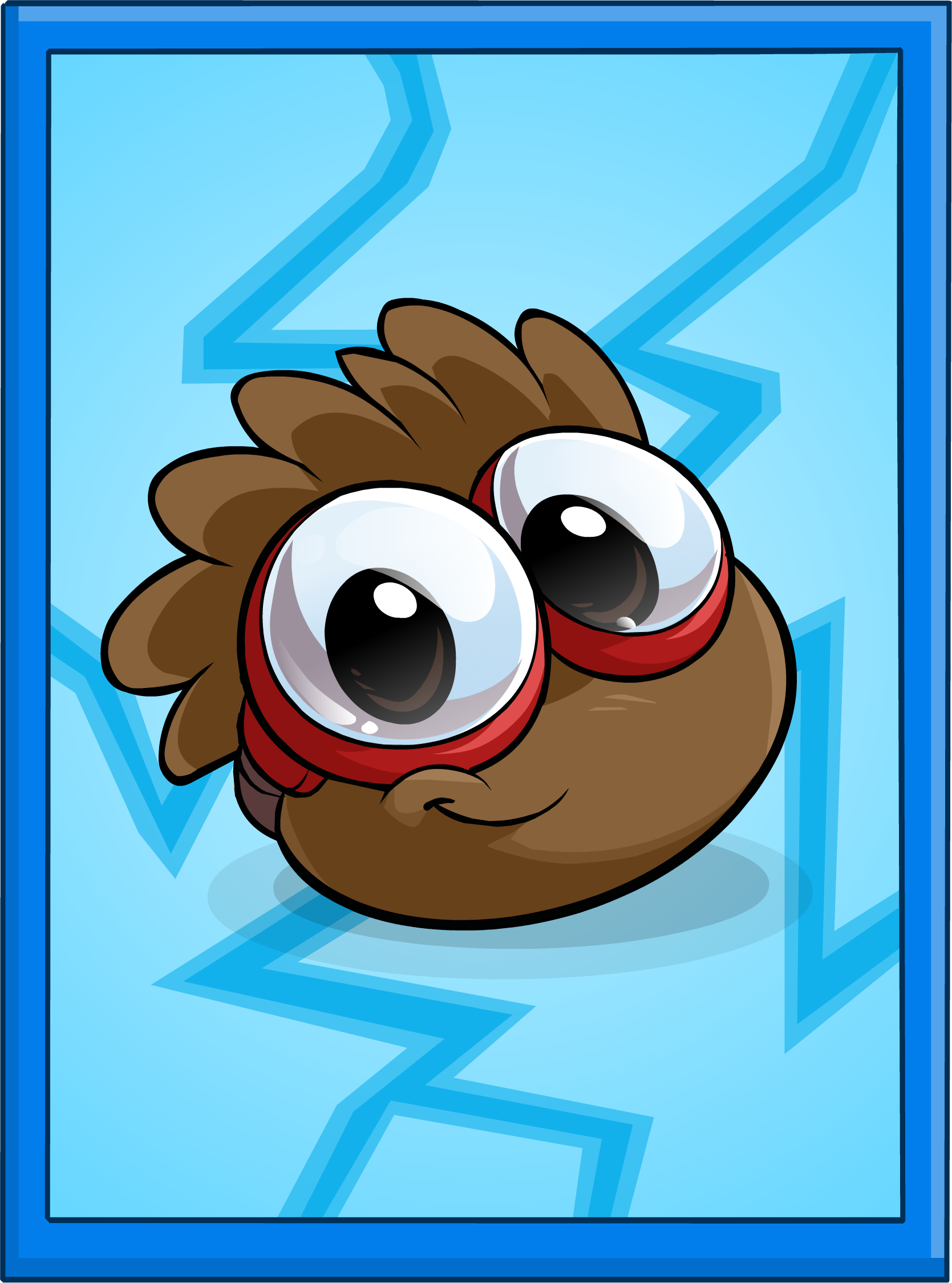 Brown Puffle Poster