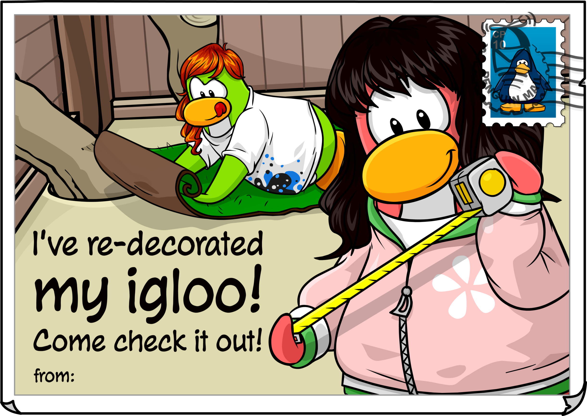 Re-decorated Igloo Postcard