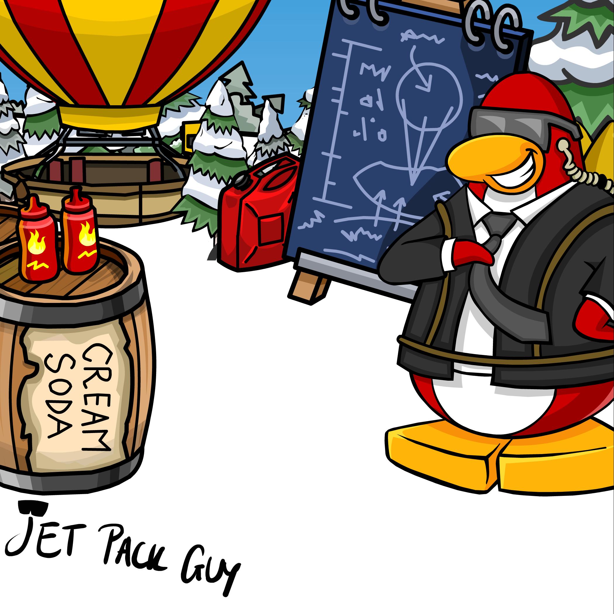 Jet Pack Guy Background