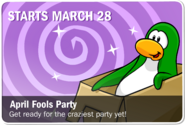 April Fools' Party 2019 Advert Issue 98