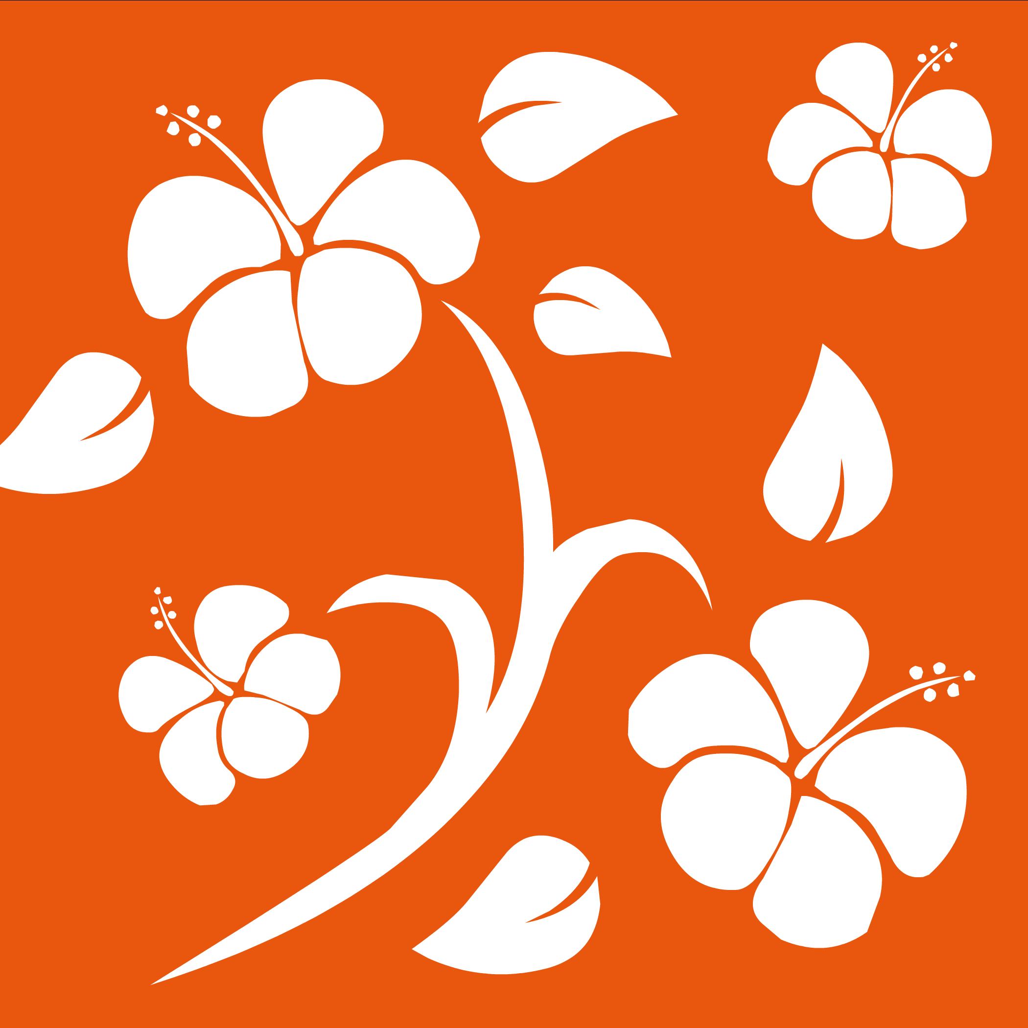 Orange Hawaiian Background