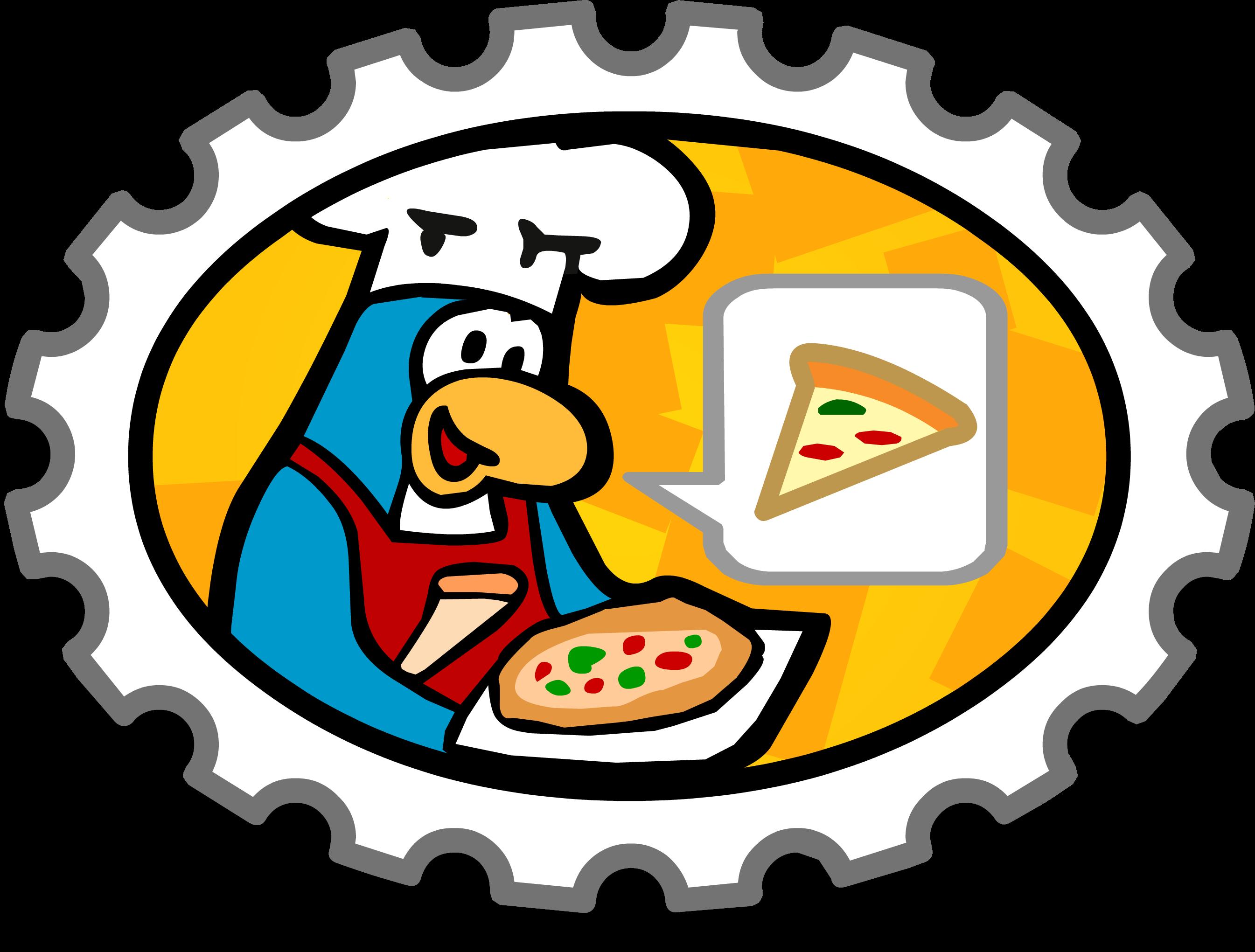 Pizza Waiter Stamp
