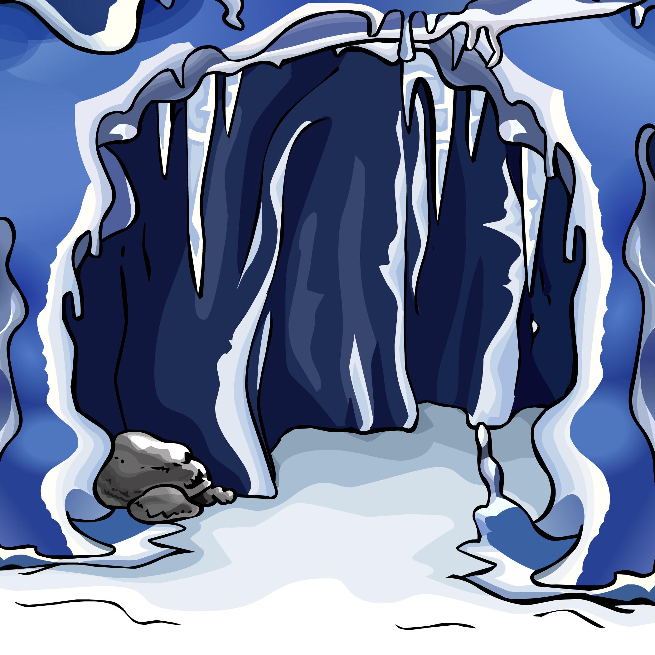 Ice Cave Background