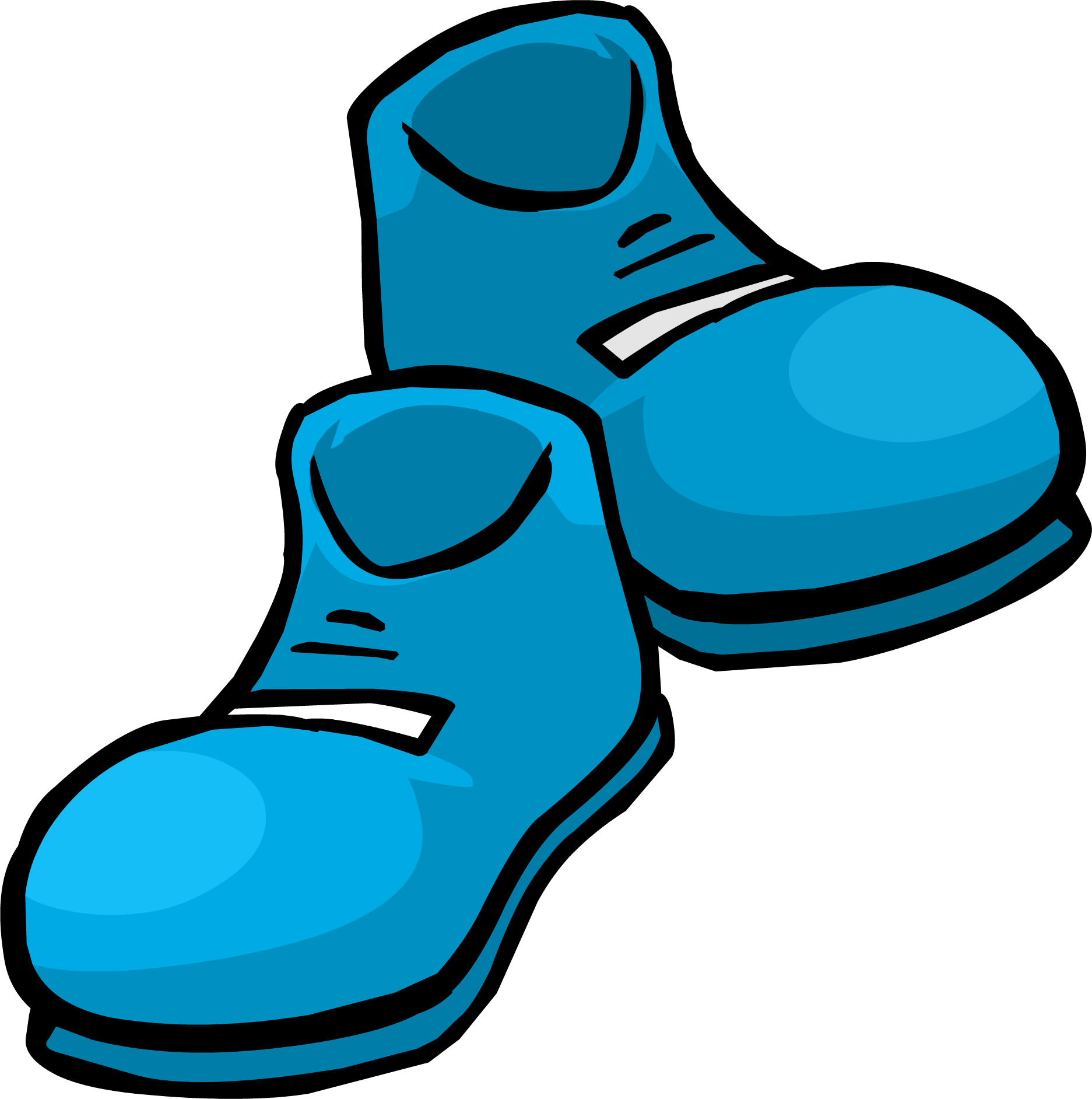 Blue Clown Shoes