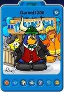 Garnet1200 Player Card - Late March 2020 - Club Penguin Rewritten