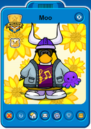 Moo Player Card - Mid April 2021 - Club Penguin Rewritten