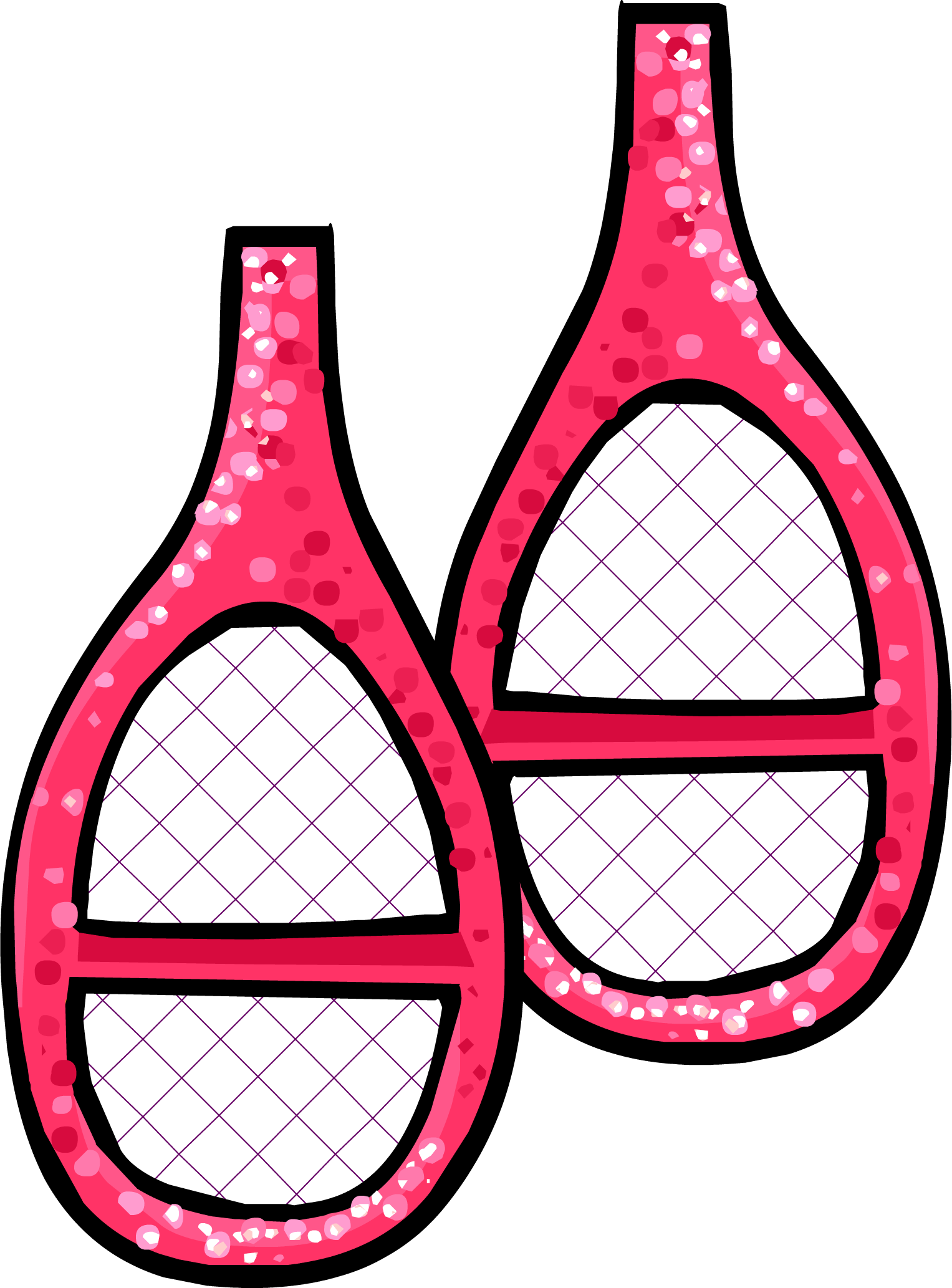 Pink Sparkly Snowshoes