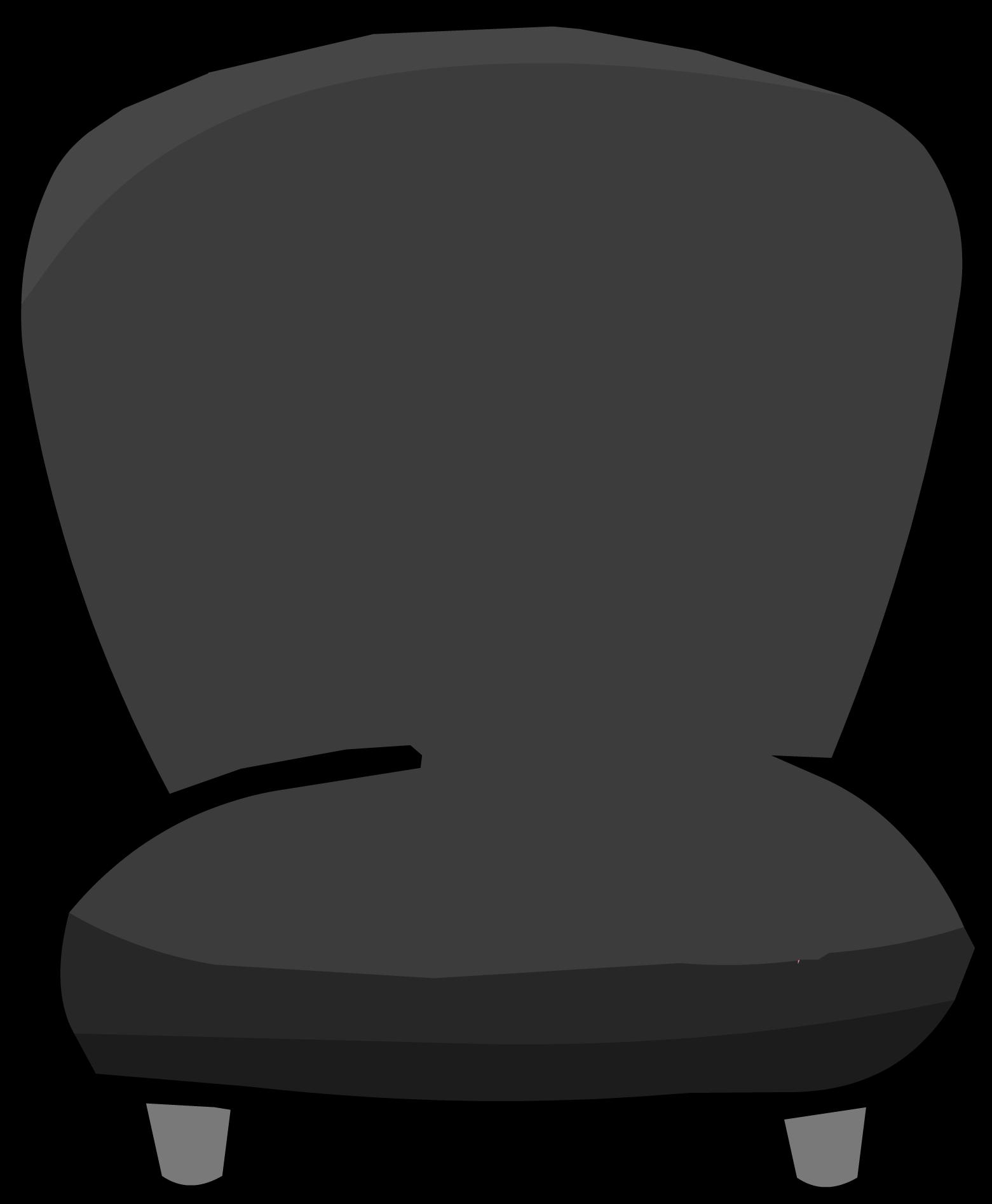 Black Plush Chair
