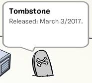 Tombstone Pin SB