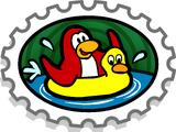 Go Swimming Stamp