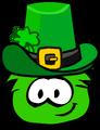 Green Puffle Patty's Hat Parade