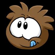 Brown Puffle Tongue