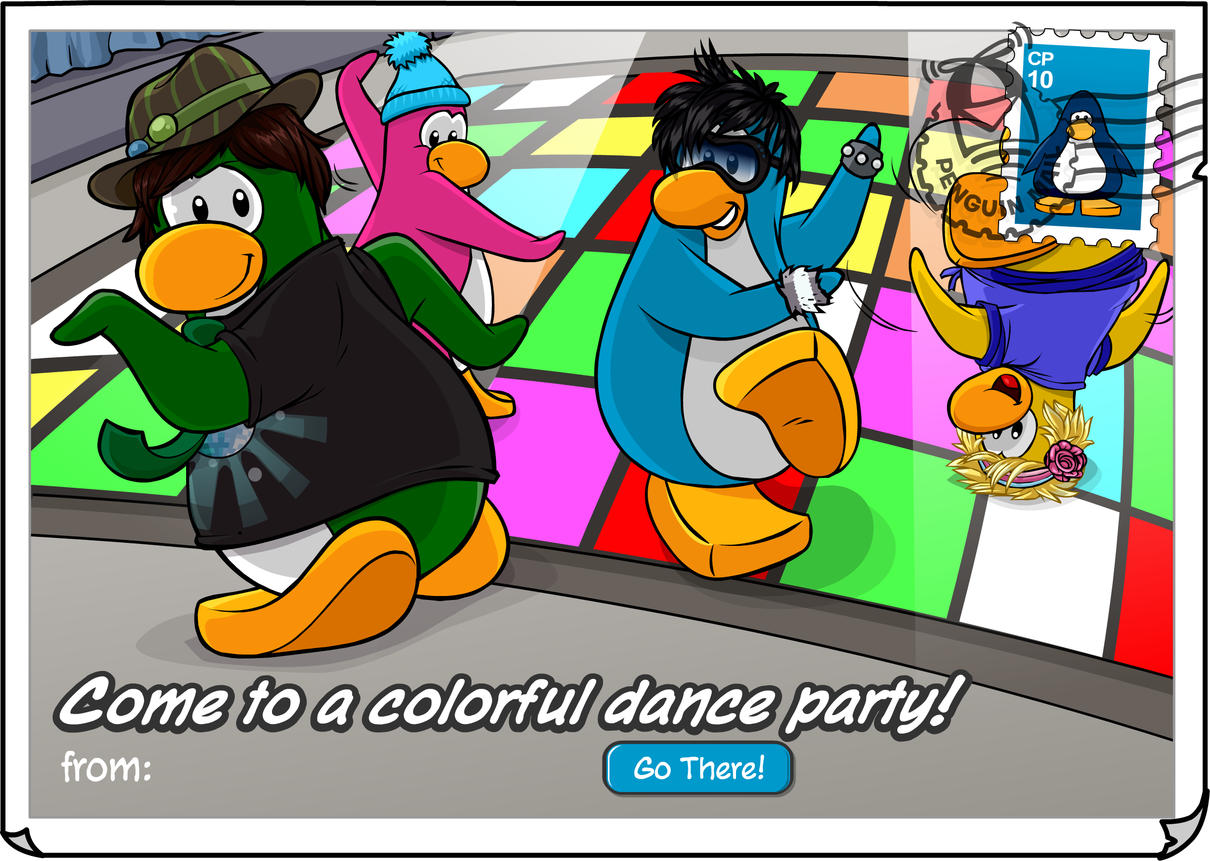 Dance Party Postcard