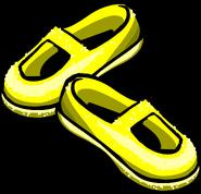 Golden Shiny Shoes