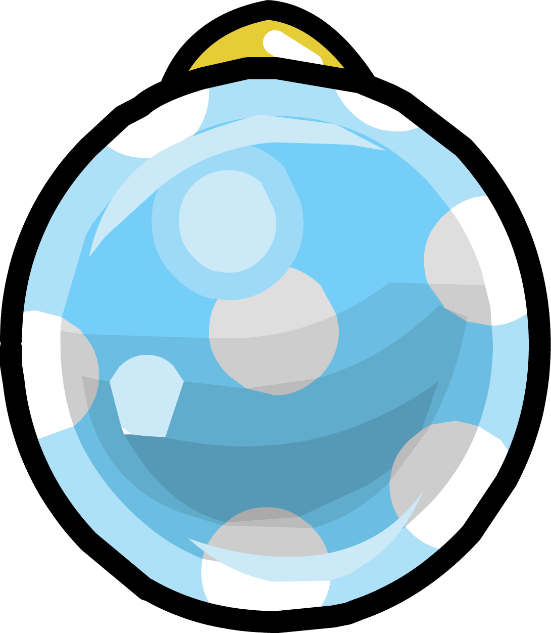 Blue Spotty Bauble