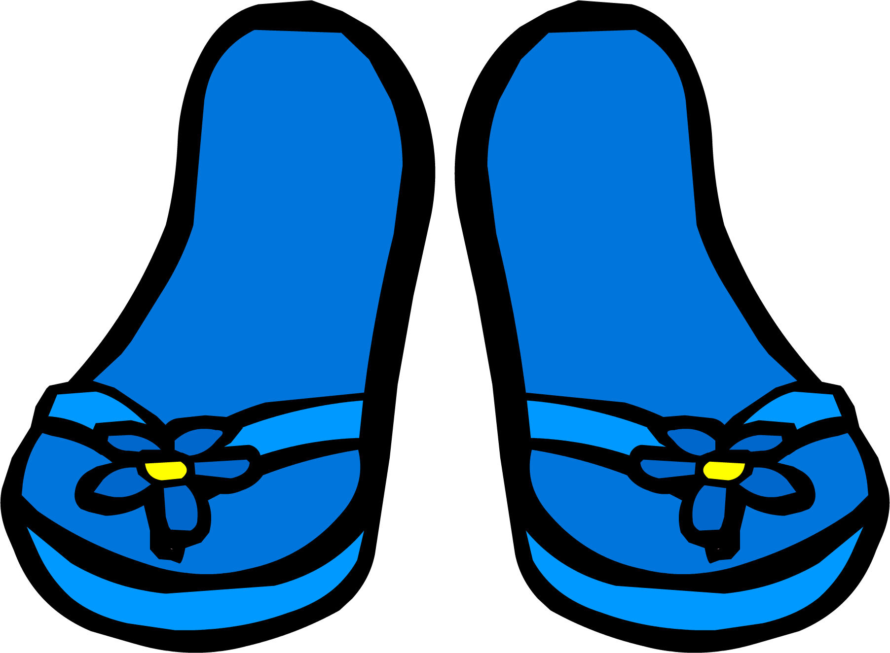 Blue Flower Sandals