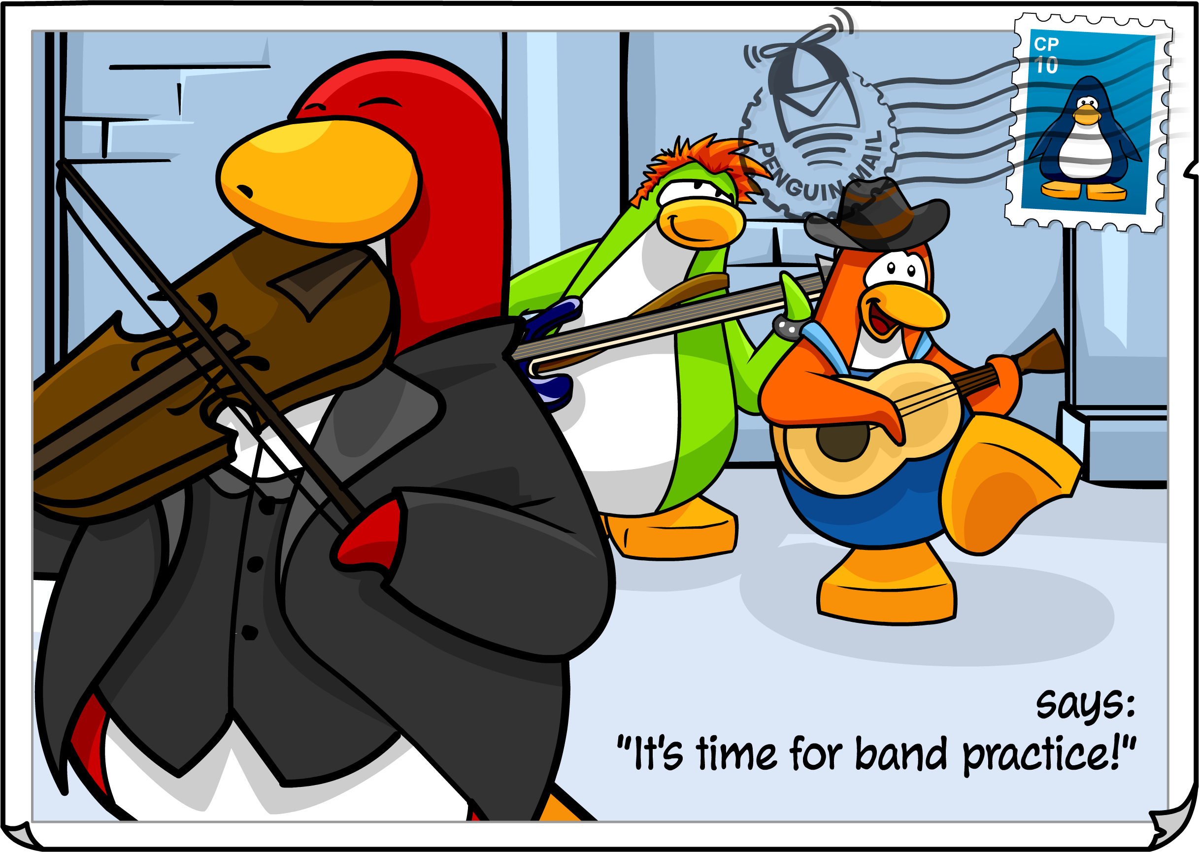 Band Practice Postcard
