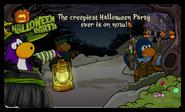 Halloween Party 2021 Login Screen