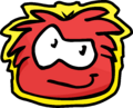 Red Puffle Pet Shop Sign