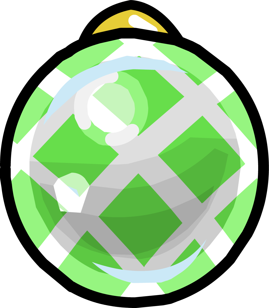 Green Crosshatched Bauble