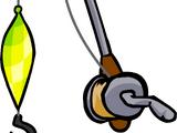 Flashing Lure Fishing Rod