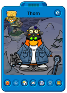 Thorn Player Card - Mid April 2021 - Club Penguin Rewritten