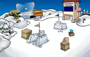 April Fools Party 2019 Snow Forts construction