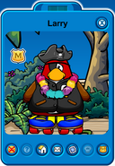 Larry Player Card - Early August 2018 - Club Penguin Rewritten