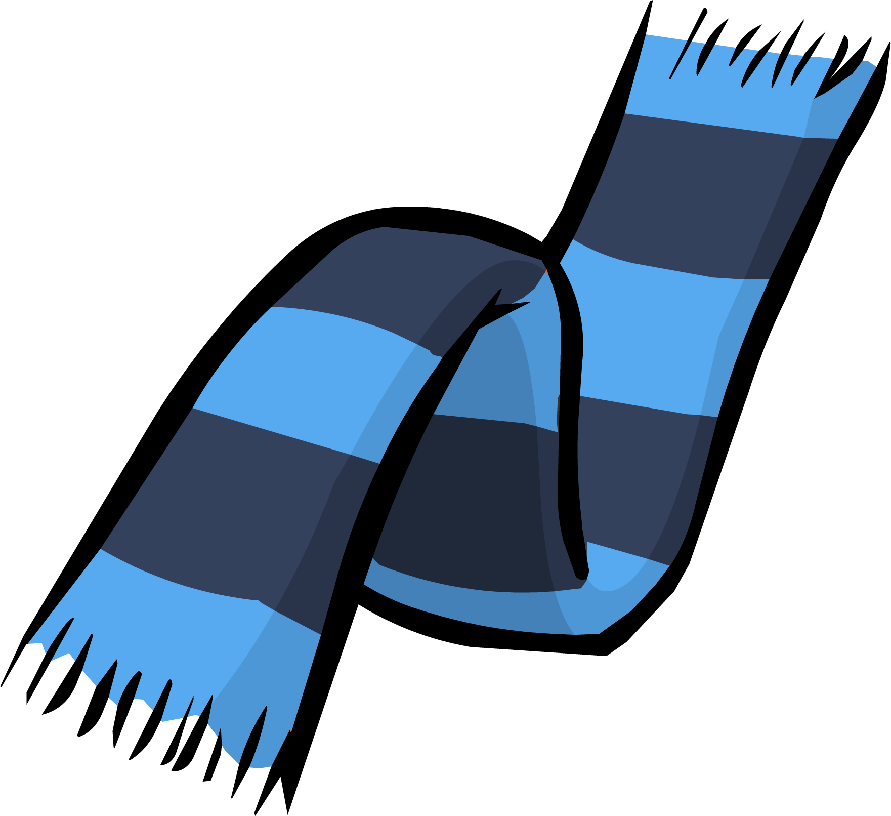 Blue Two Tone Scarf