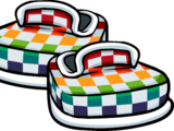 Rainbow Checkered Shoes