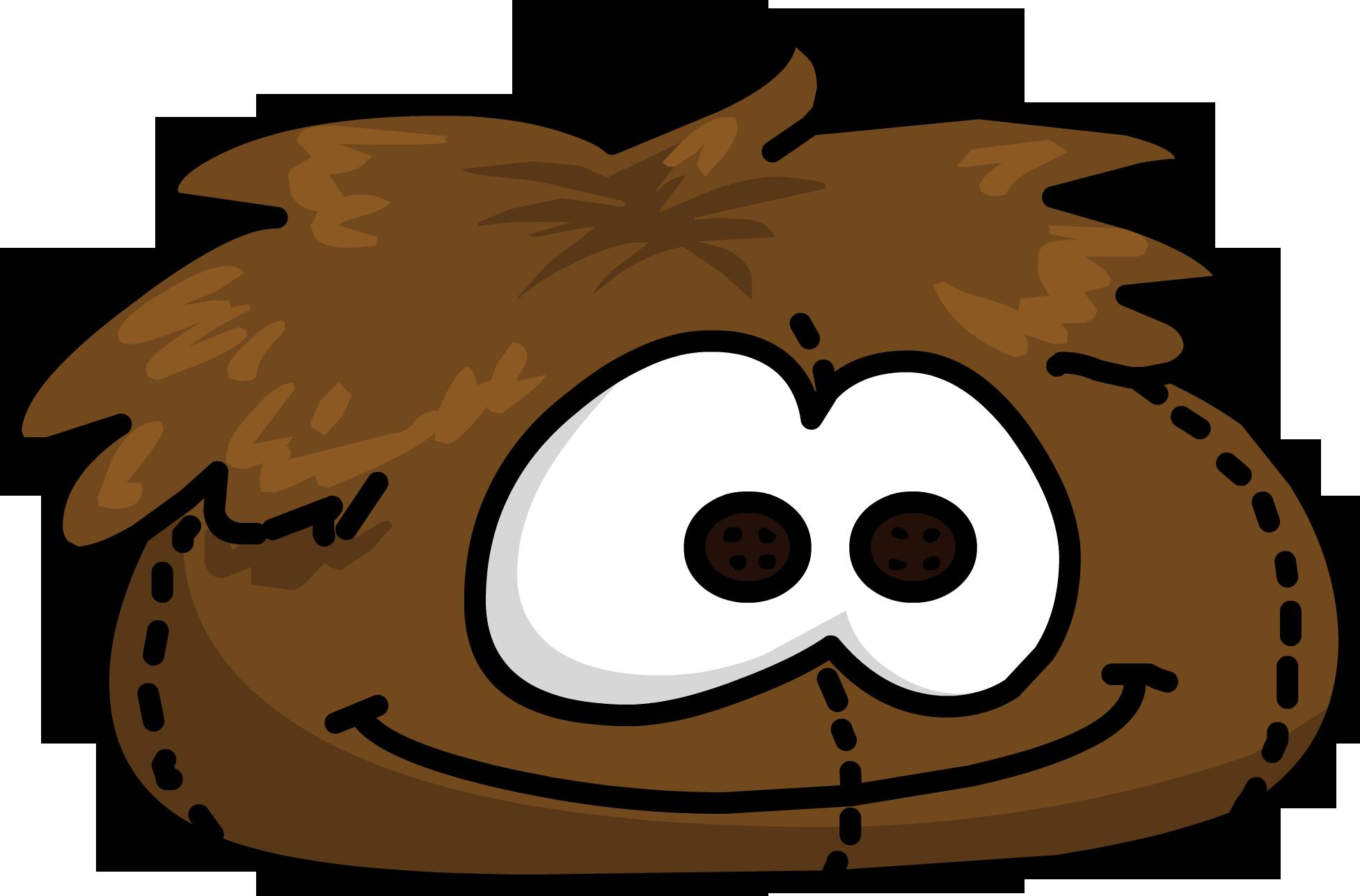Brown Puffle Bean Bag