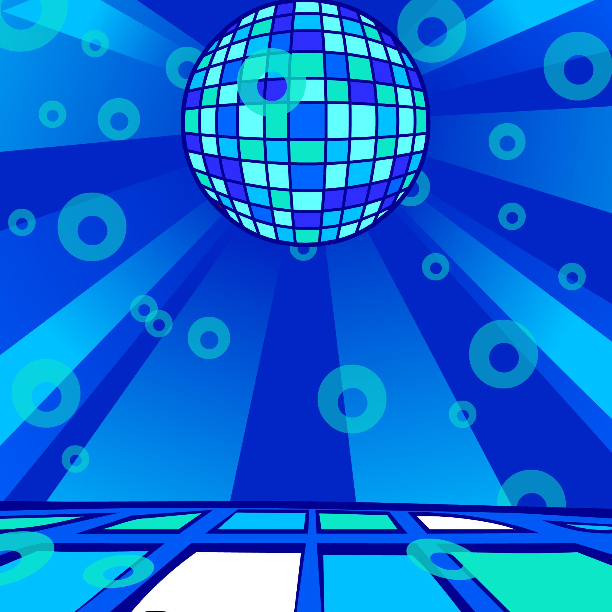Aqua Disco Background