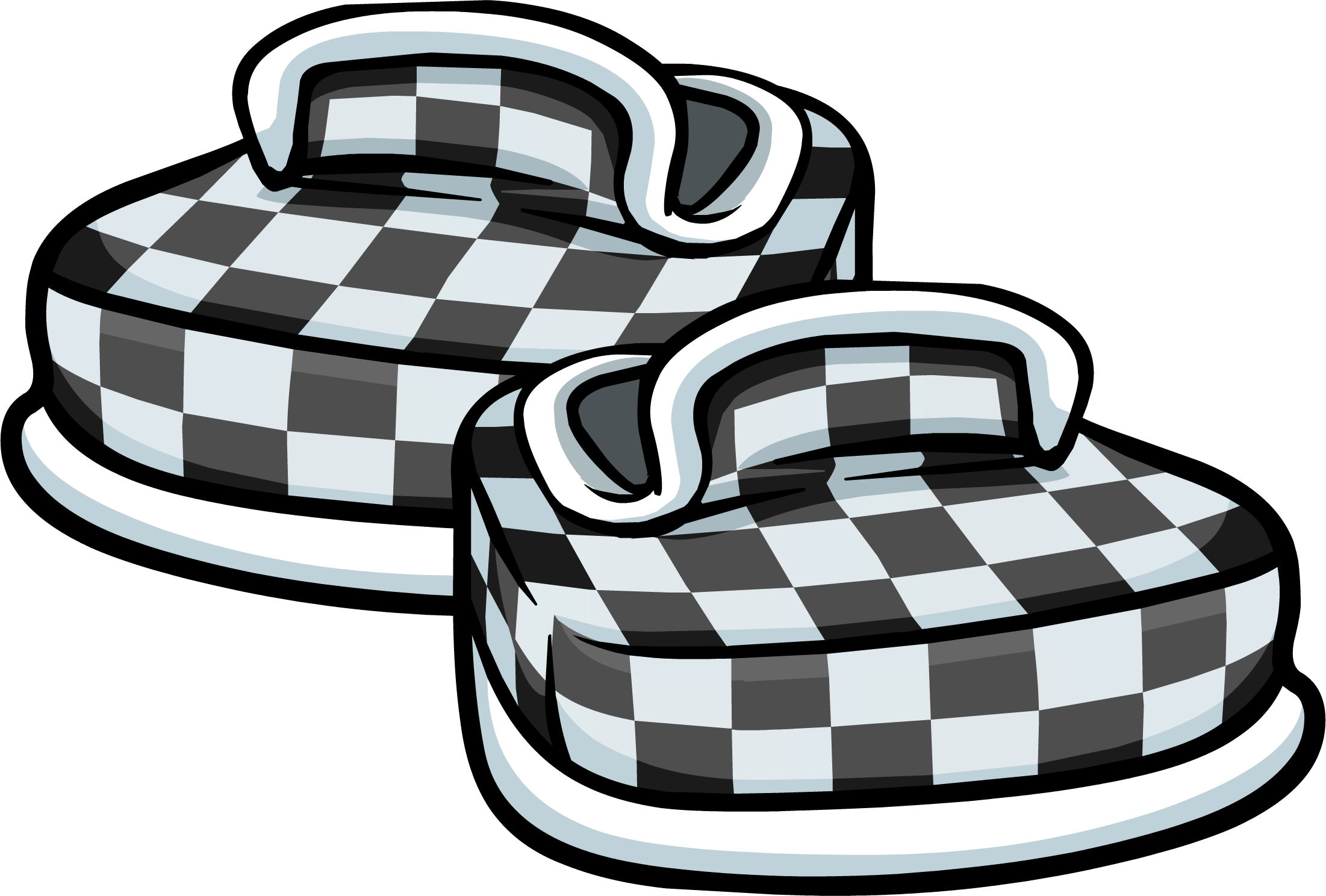 Black Checkered Shoes