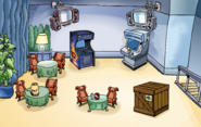Puffle Party 2020 construction Dance Lounge