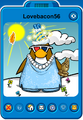 Lovebacon56 Player Card - Late April 2020 - Club Penguin Rewritten