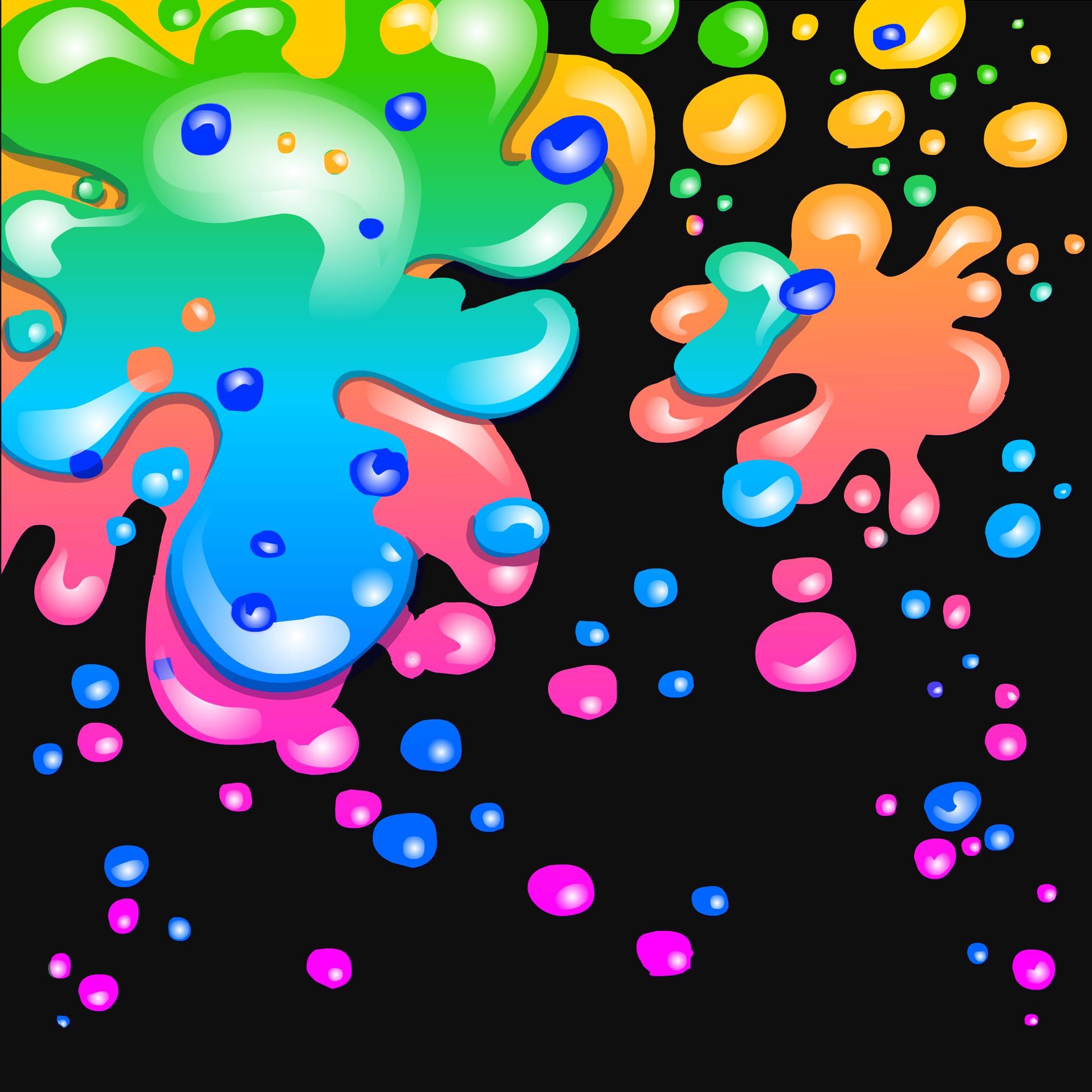Neon Paint Splatter Background