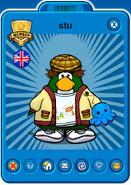 Stu Player Card - Mid April 2021 - Club Penguin Rewritten