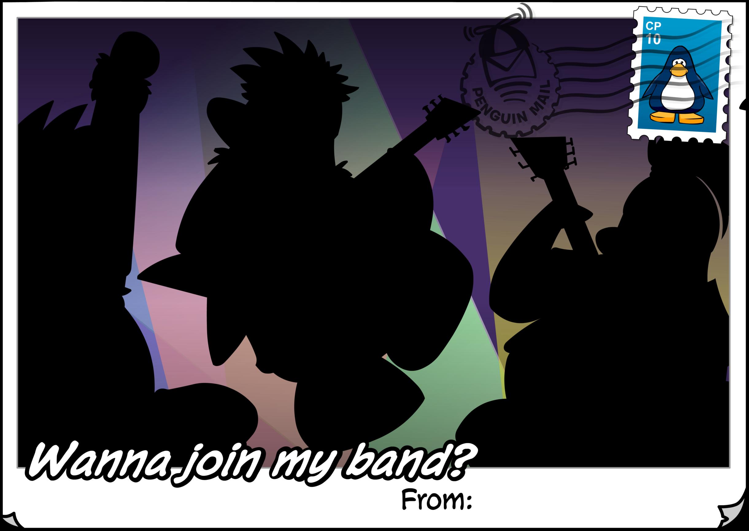 Wanna Join My Band Postcard