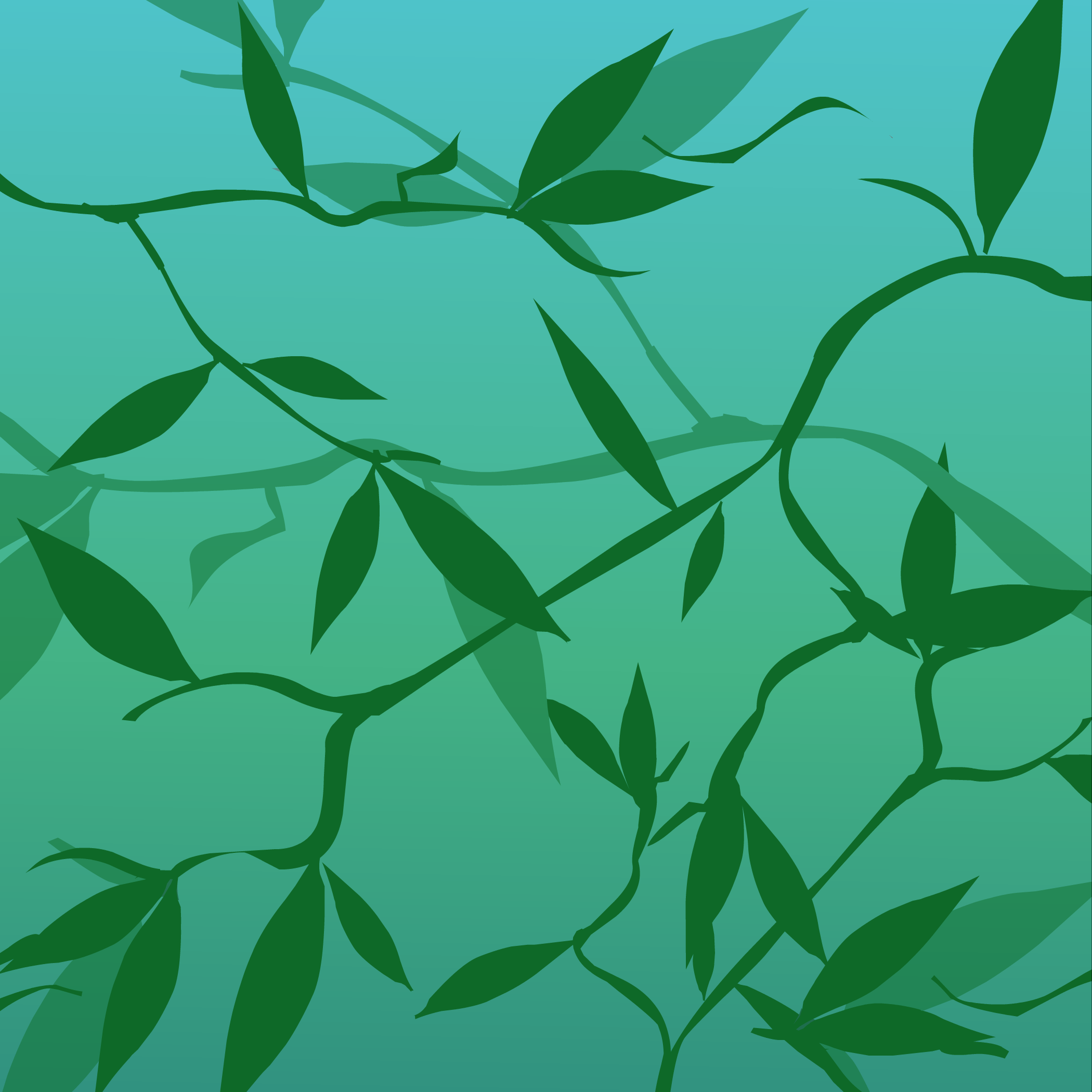 Emerald Leaves Background