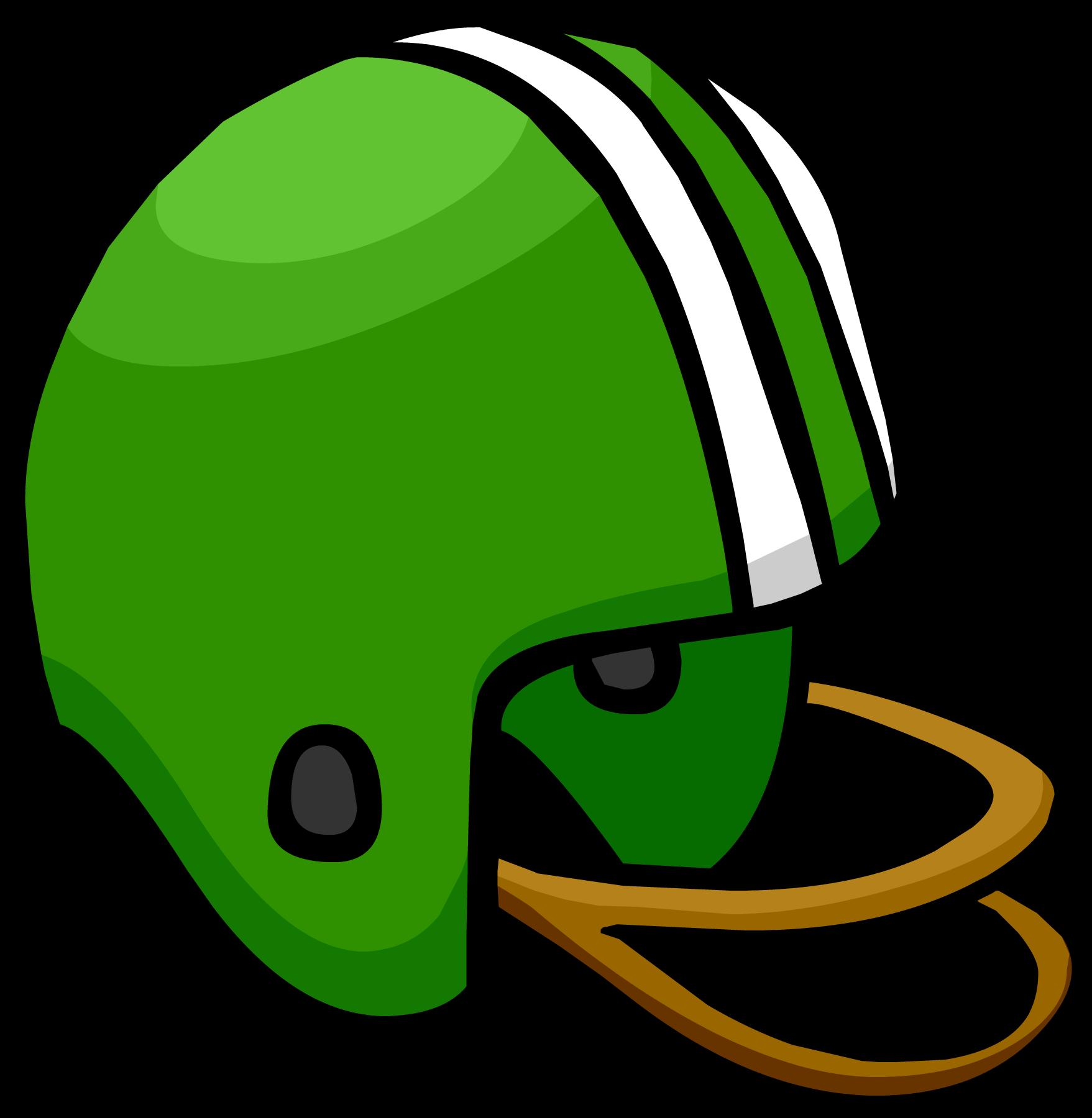 Green Football Helmet