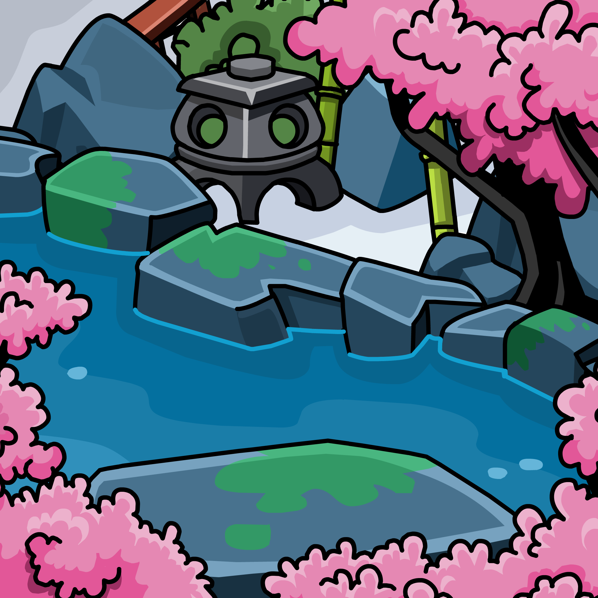 Cherry Blossom Orchard Background