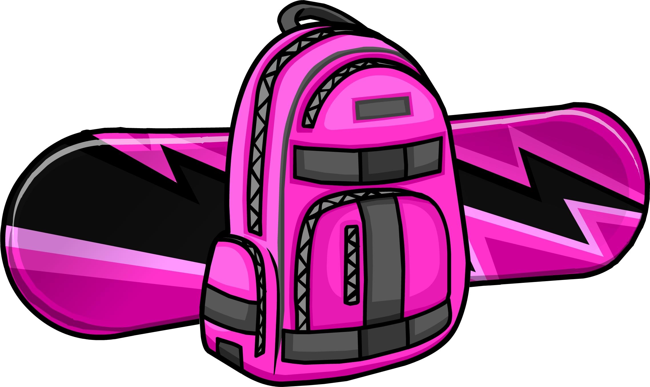 Electric Pink Snowboard