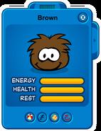 Brown Puffle Card