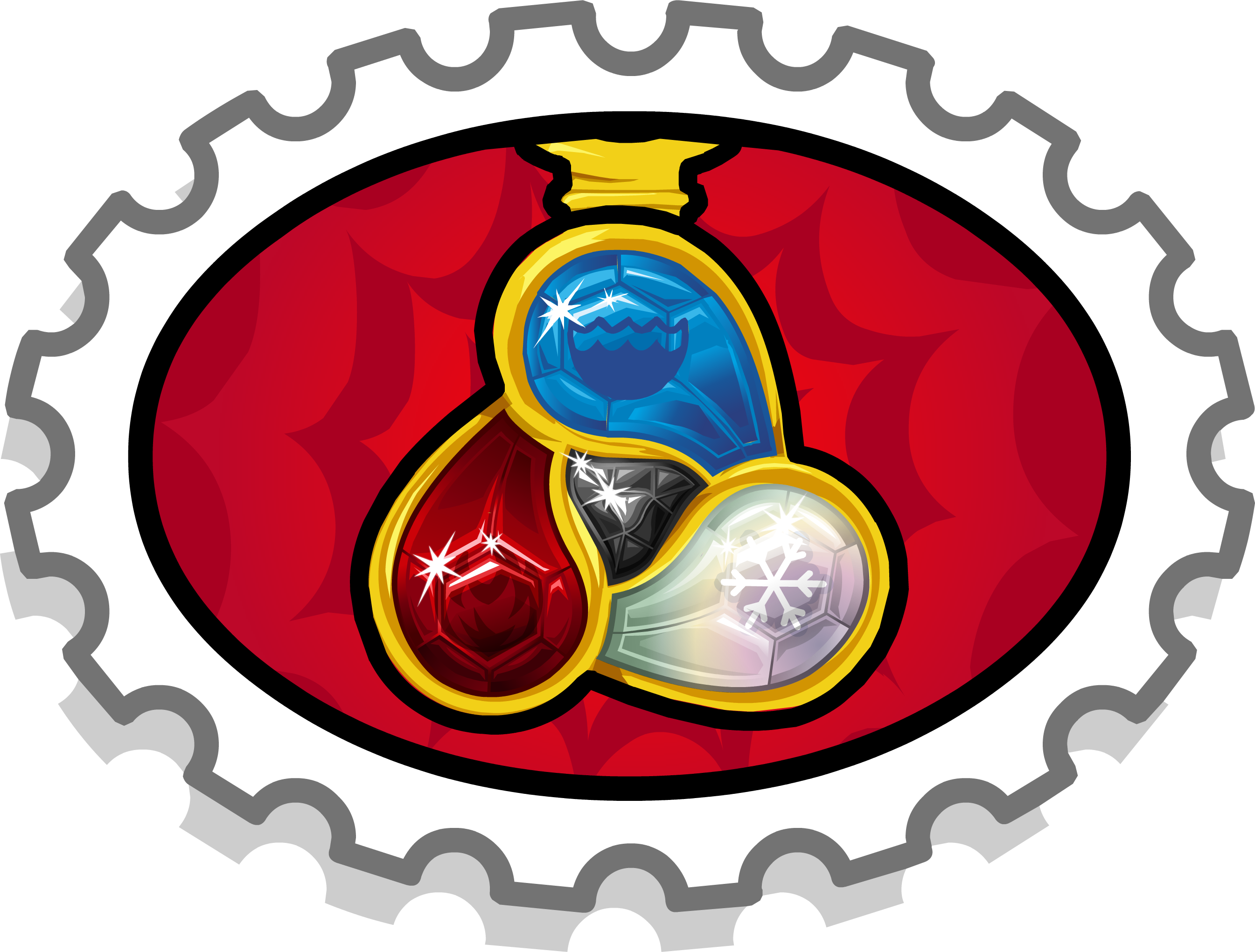 3 Gems Stamp