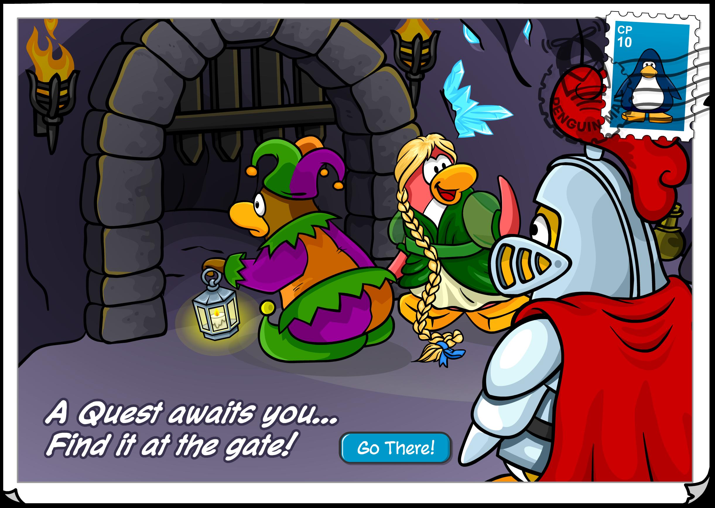 Medieval Quest Invite Postcard