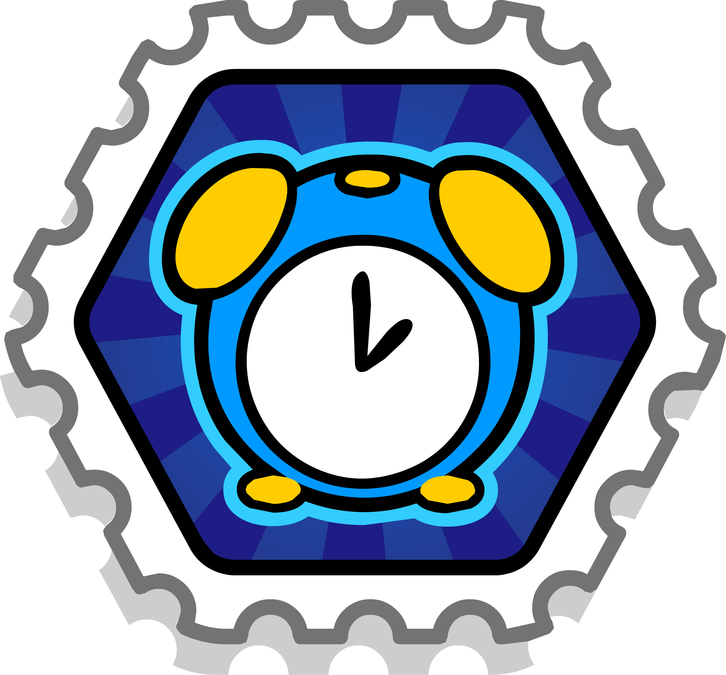 Clam Timer Stamp