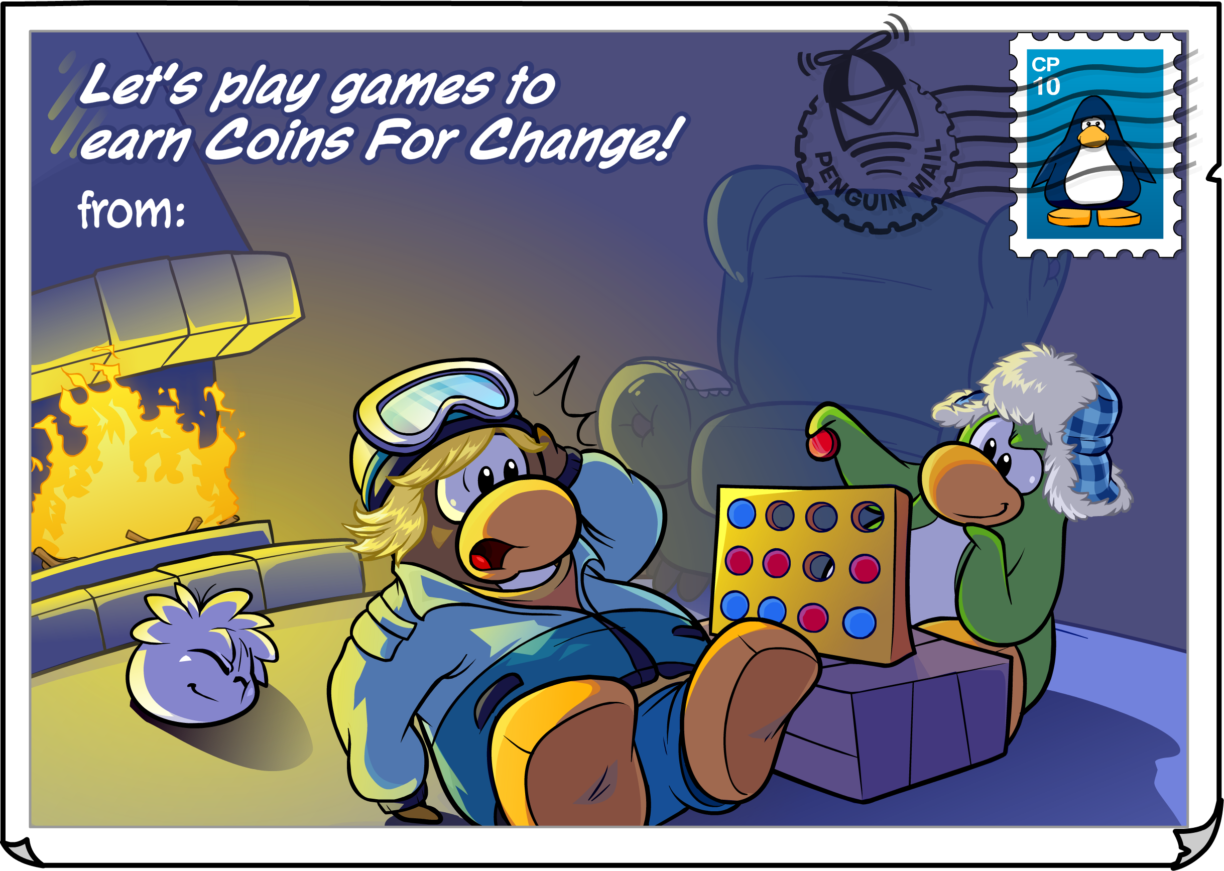 Coins For Change Postcard