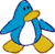 Doodle Dimension penguin Light Blue